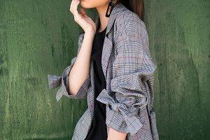 Asian model girl posing