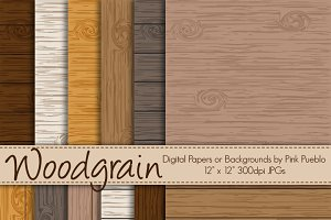 Vector Woodgrain Backgrounds/Papers