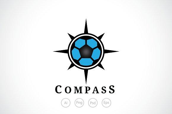 Football Compass Logo Template