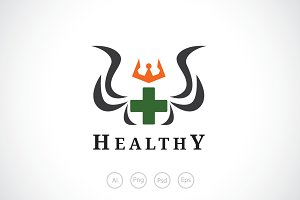 Healthy King Logo Template