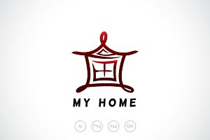 Lantern House Logo Template
