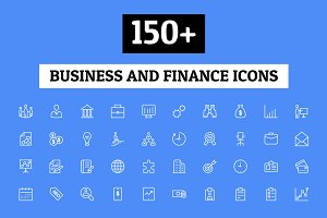 150+ Business and Finance Icons