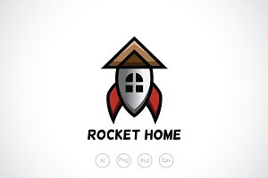 Rocket House Logo Template