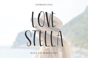 Love Stella Lettering Font