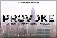 Provoke - Versatile Inline Typeface