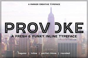Provoke Trendy Inline Font
