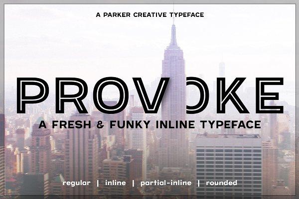 ★ Provoke ★ Inline Font