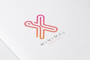 Minimal Line Initial Letter X Logo