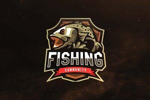 Fishing Community E Sport Logo