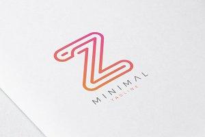 Minimal Line Initial Letter Z Logo