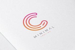 Minimal Line Initial Letter C Logo