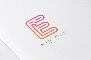 Minimal Line Initial Letter E Logo
