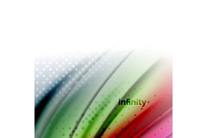 Blurred mixing liquid flowing colors, abstract background, web design template for presentation, app wallpaper, banner or poster