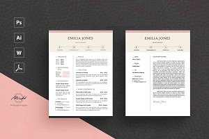 Pinky Resume Template / CV template