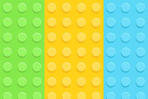 Plastic construction plate pattern