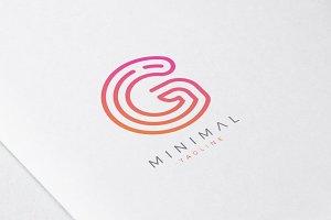 Minimal Line Initial Letter G Logo