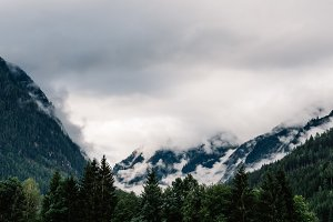 Scenic view of mountains in Austrian Alps