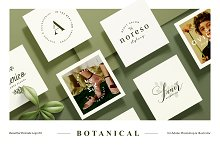Botanical Logo Kit by William Hansen in Logos
