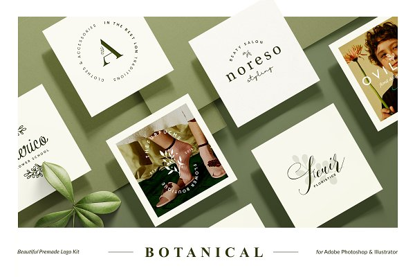 Logo Templates: William Hansen - Botanical Logo Kit
