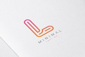 Minimal Line Initial Letter L Logo