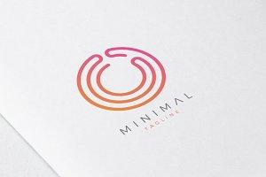 Minimal Line Initial Letter O Logo