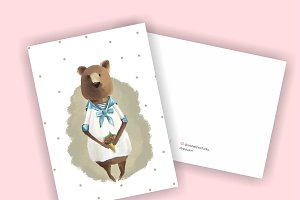 Bear for cards or children's books