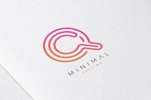 Minimal Line Initial Letter Q Logo