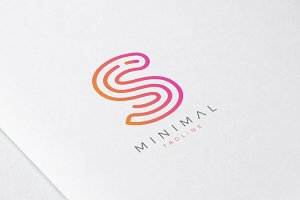 Minimal Line Initial Letter S Logo