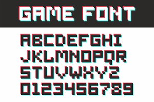Video game pixel font