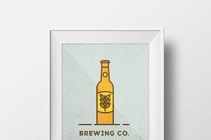 Vector brewing co. logo