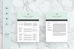 Pastel Blue Resume Template