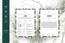 Leaf Floral Resume Template by  in Resumes
