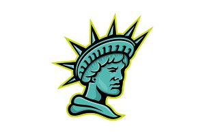 Lady Liberty or Libertas Mascot