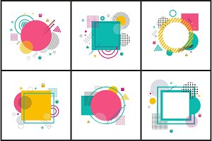 Collection of Abstract Posters Vector Illustration