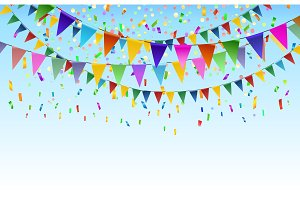 Festival triangular flags background