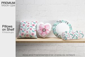 Pillows on Shelf Set