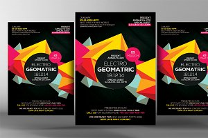 Electro Vibes Geometric Flyer