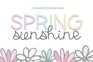 Spring Sunshine - Script Font Duo