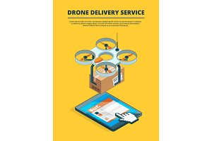 Concept picture of drone logistic service