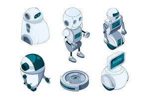 Domestic robots assistant. Various help machines