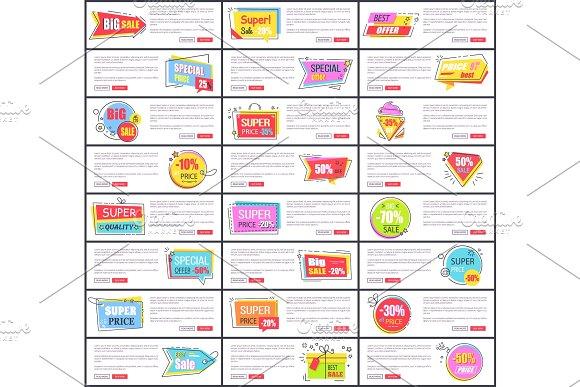 Big Sale at Internet Shop Web Page Templates Set