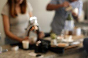 Blur Rox Espresso making coffee
