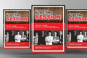 Electro Session Party Flyer Template