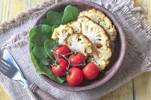 Spicy roast cauliflower