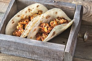 Tacos with BBQ cauliflower