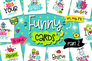 36 Funny Lettering Cards Collection!