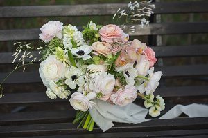 Beautiful wedding rustic bouquet