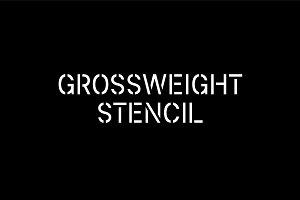 Grossweight Stencil Font (OTF,AI)