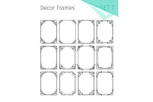 Decorative vintage floral frames