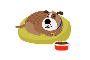 Pet dog cartoon icon